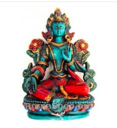 zöld tara szobor